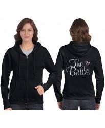 Bride Zip Hooded Sweatshirts with heart