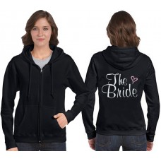 Bride Zip Hooded Sweatshirts with heart
