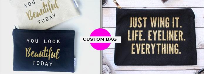 Personalised Accessory bag £5, makeup bags, Cosmetic Bag