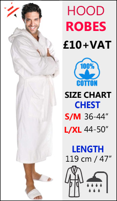mens hooded bathrobe