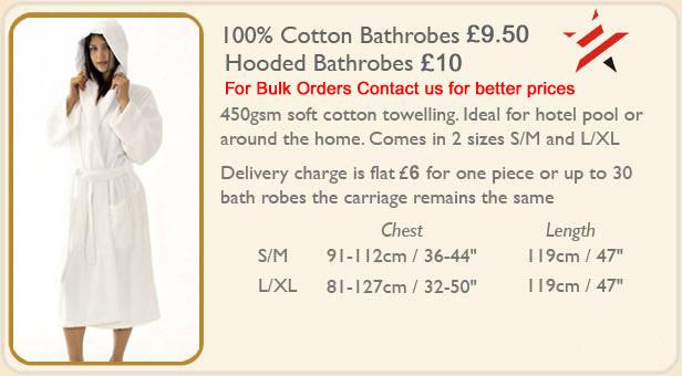 Hooded Bathrobe £8.00 Mens Hooded Towelling Bath robes