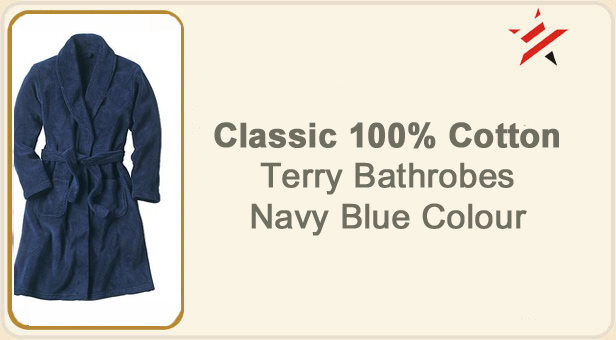 navy blue colour bathrobes